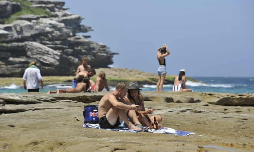 People at a Sydney beach