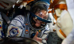 Jessica Meir and crewmates return safely from the space station in April 2020.