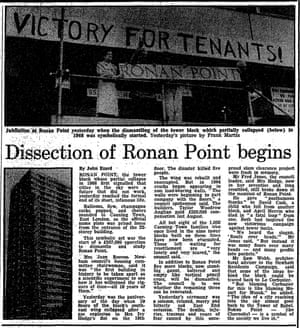 Despite the repairs, cracking in the load-bearing concrete walls was deemed to make the building unsafe for habitation and in 1986 it was decided to demolished it. The Guardian, 17 May 1986.