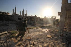 Rebels have recaptured positions previously taken by Syrian government forces in the Handarat Palestinian refugee camp