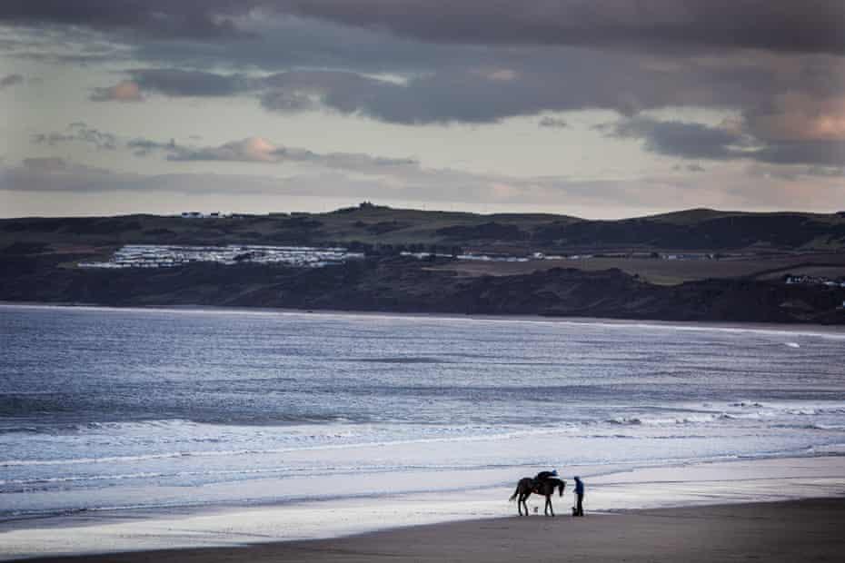Filey beach looking towards Flamborough.