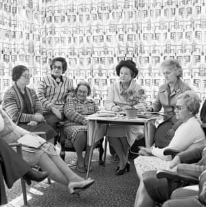 Monthly meeting of the Vroue-Federasie at a members house, June 1980Most of Goldblatt's photographs were taken with the permission of his subjects.