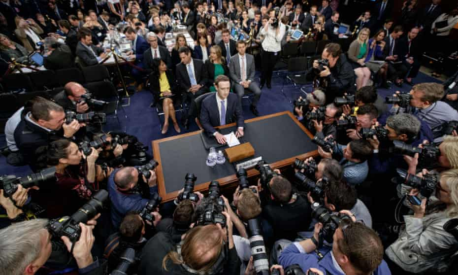 Mark Zuckerberg testifies before US Congress after Facebook's role was exposed.