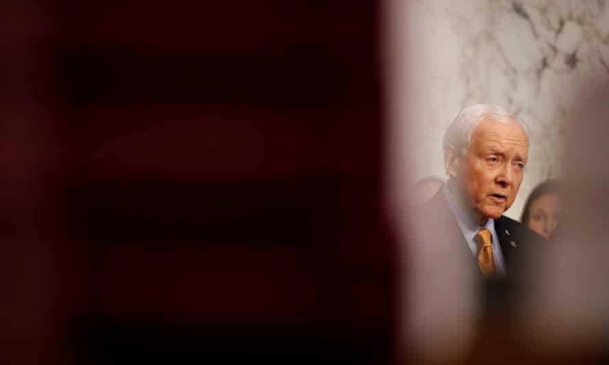 Senator Orrin Hatch speaks on Capitol Hill on Thursday. 'Anyone who says we're hiking taxes on low-income families is misstating the facts,' he said.