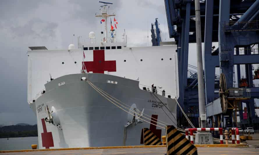 The USNS Comfort is on a three-month mission that has already taken in Ecuador and Peru and will end in Honduras.
