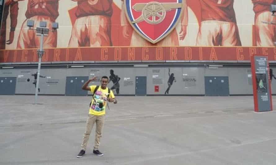 Ali Issa Ahmad, pictured outside Arsenal's Emirates stadium.