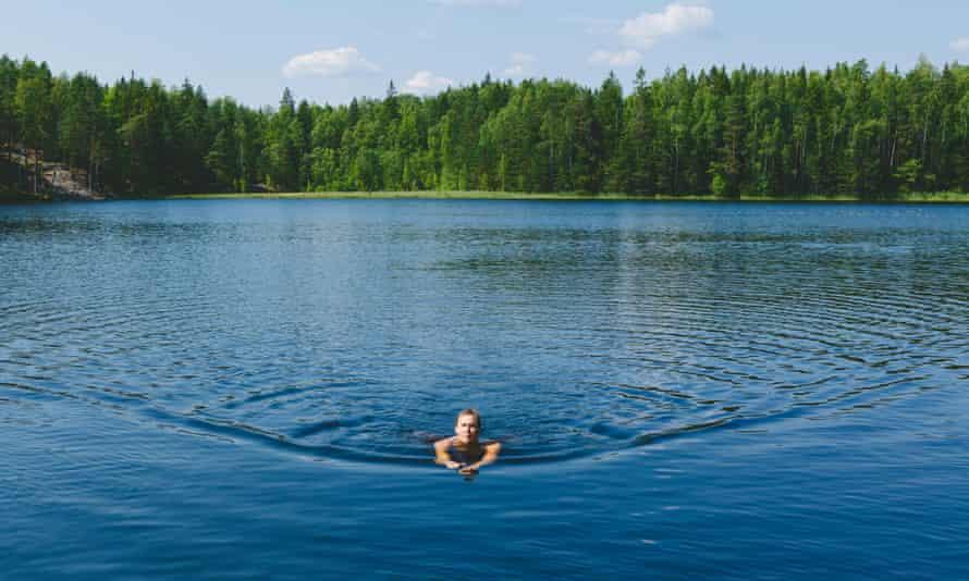Lake Kvarntrask in Finland.