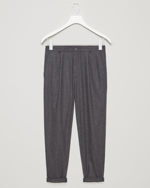 Grey relaxed wool turn up, £79, cosstores.com