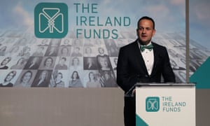Taoiseach Leo Varadkar speaking at the American Ireland Gala Fund dinner at the National Building Museum in Washington DC during his visit to the US.
