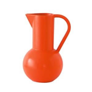 Orange ceramic jur