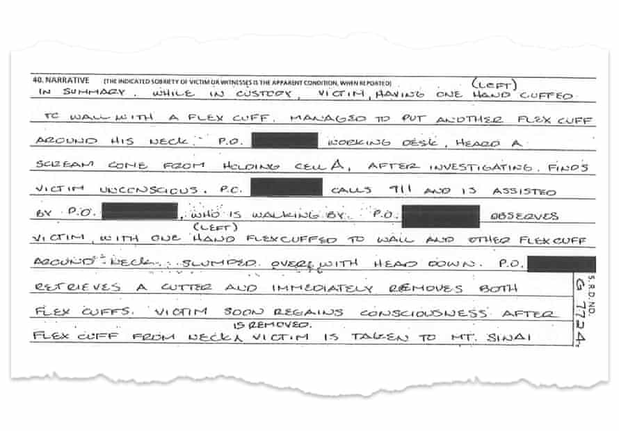 A hospitalization case report from the Chicago police department.