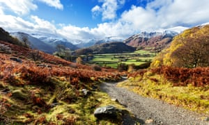 A view over Borrowdale in the Lake District.