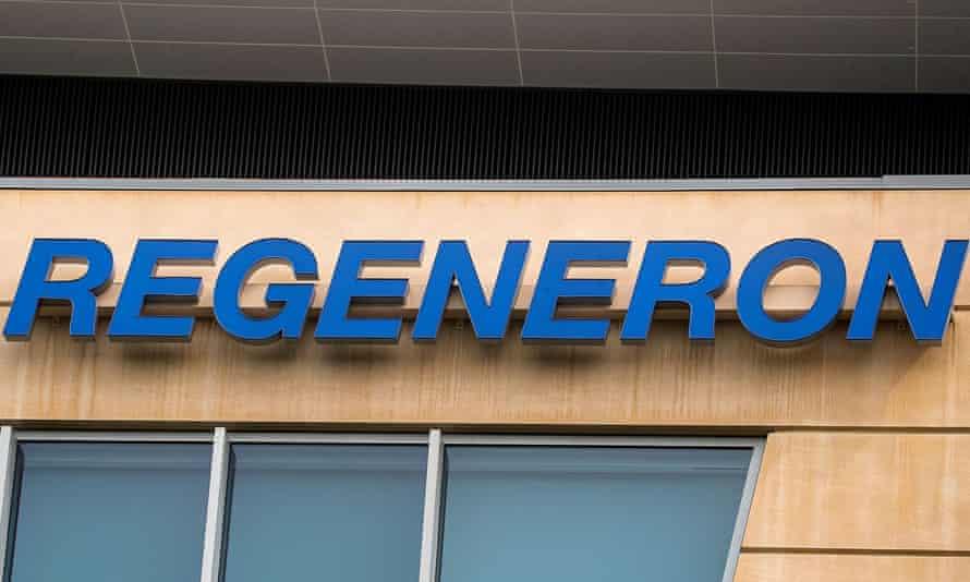 Signboard for Regeneron outside a building
