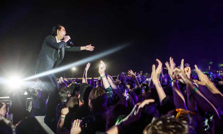 Nick Cave performs
