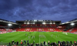 Atlético Madrid train at Anfield