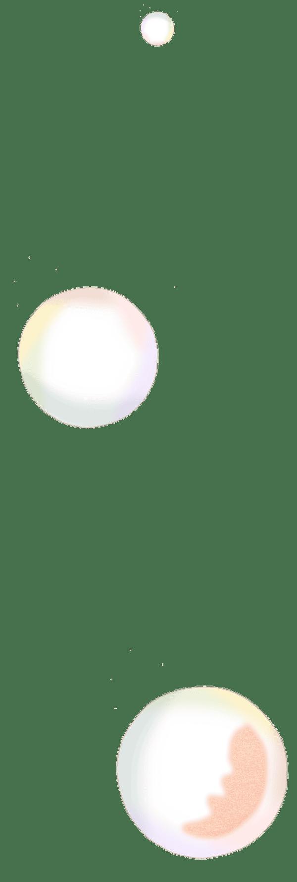 bubbles spot illustration