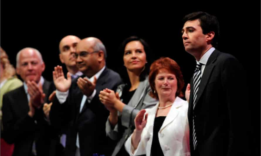 Burnham is applauded after a speech at the Labour party conference in Manchester in 2008