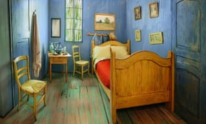 A 3D replica of Van Gogh's Bedroom in Arles painting by the Art Institute of Chicago.