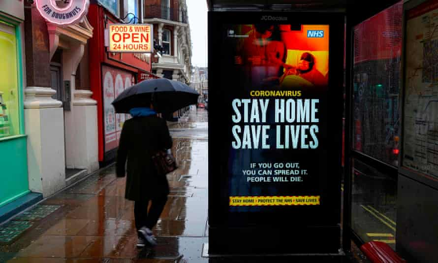 A public health message on a bus shelter in London