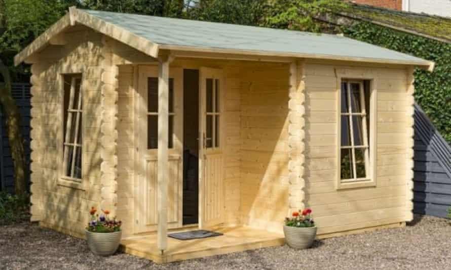 The Rowlinson 4.2 metre x 3.3 metre garden office log cabin from Sheds.co.uk