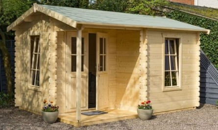 The Rowlinson 4.2 metre x 3.3 metre garden office log cabin from Sheds.co.uk