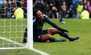 Raheem Sterling reacts after missing from close range.