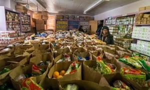 Jan Ridgeway of the Garden Valley Neighborhood House food bank, Cleveland, Ohio.
