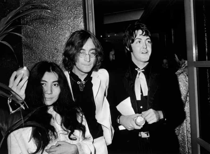 Yoko Ono, John Lennon and Paul McCartney in July 1968.