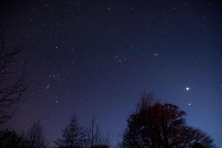 Venus, Mars and constellations