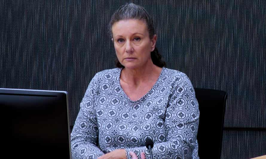 Kathleen Folbigg appears via video link during a convictions inquiry at the NSW Coroners Court, in Sydney, New South Wales, Australia, 01 May 2019.