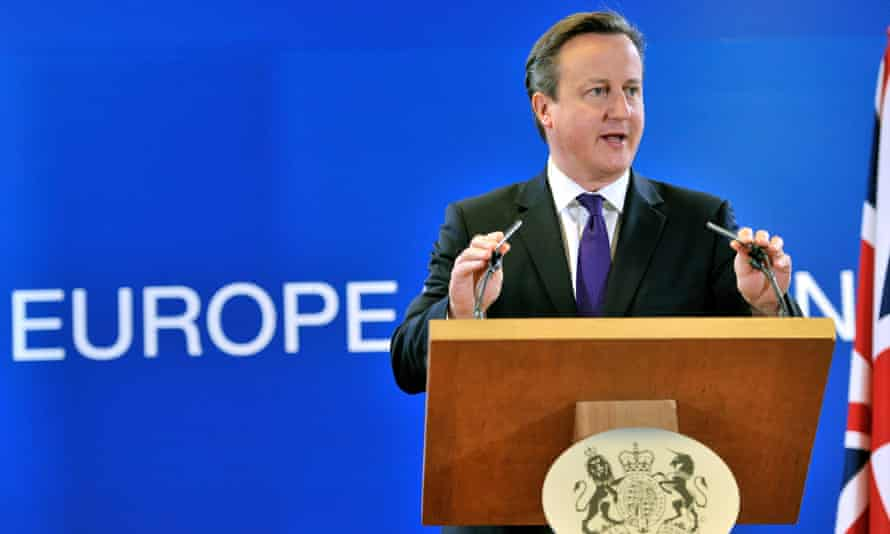 David Cameron speaks at an EU council meeting in Brussels