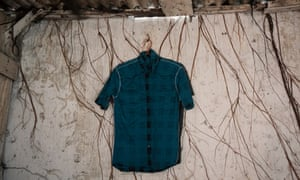 A hanged shirt inside building burned down during the May 1998 riot in the Chinatown, Glodok, West Jakarta