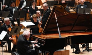 Budapest Festival Orchestra conducted by Iván Fischer with pianist András Schiff, at the Barbican, London.