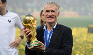 Didier Deschamps gets his hands on the World Cup once again.