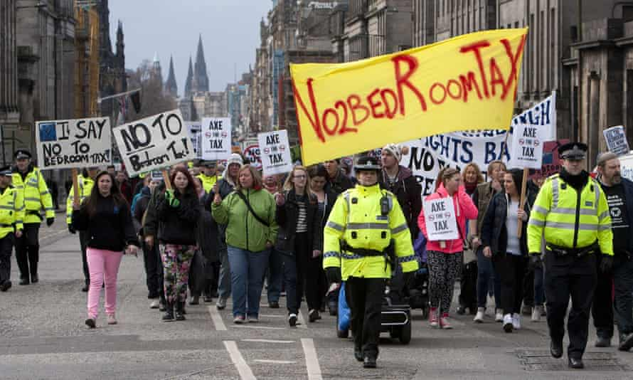 Demonstration against the bedroom tax in Edinburgh in March 2013.