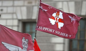 Flag in support of Soldier F