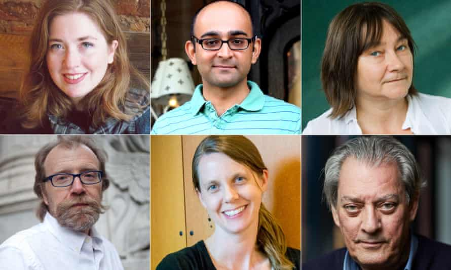 Booker Prize Comp 2017 Left to Right - Fiona Mozley, Mohsin Hamid,Ali Smith,George Saunders Paul Auster Ali Smith Mohsin Hamid George Saunders Fiona Mozley Emily Fridlund