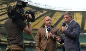 The Channel 5 duo at Twickenham in 2017.