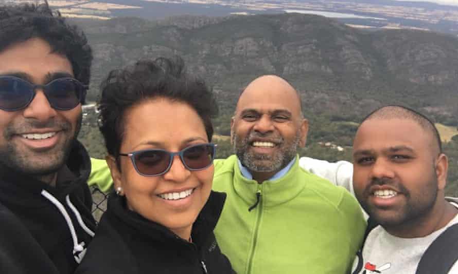 Ramana Akula and his family