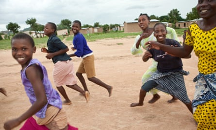 Adolescent girls attend an after school programme in Dodoma, Tanzania