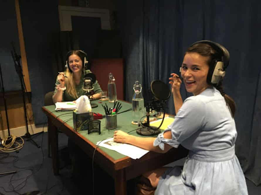 Rachel Khoo and her producer Naima Brown in the studio working on their podcast about the future of meat, A Carnivore's Crisis.