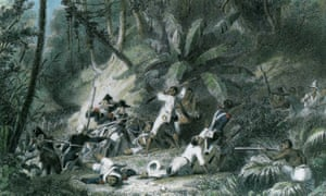 Print showing the Haitian slave revolt