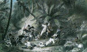 illustration of the Haitian slave rebellion of 1791, led by Toussaint L'Ouverture