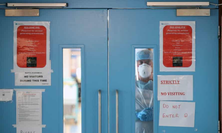 A Covid-19 recovery ward.