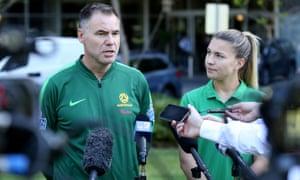 Matildas coach Ante Milicic and vice-captain Steph Catley
