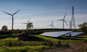 Solar array in Avon, Somerset