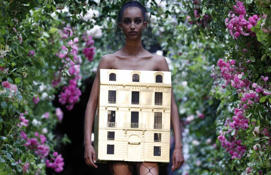 This golden dolls' house dress – a collaboration between Dior creative director Maria Grazia Chiuri and artist Penny Slinger – was the final look of the show.