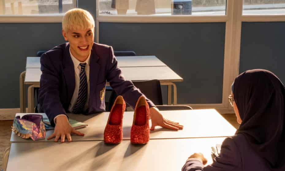Max Harwood with Lauren Patel in Everybody's Talking About Jamie.