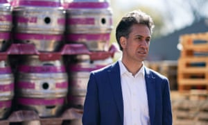 Ed Miliband campaigning at a brewery in West Yorkshire last month.