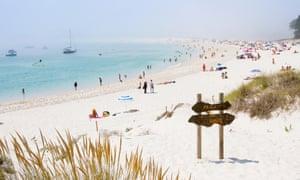 Playa de Rodas on the Cies islands, Galicia, Spain